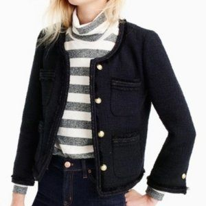NWOT J Crew Lady Boucle Tweed Jacket Small XS 2
